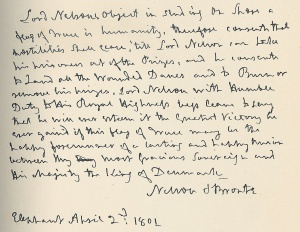 Nelson Letter to Crown Prince of Denmark