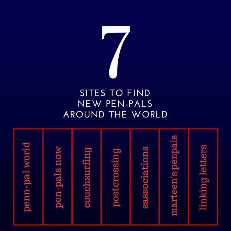 7 Sites to Find Pen-Pals