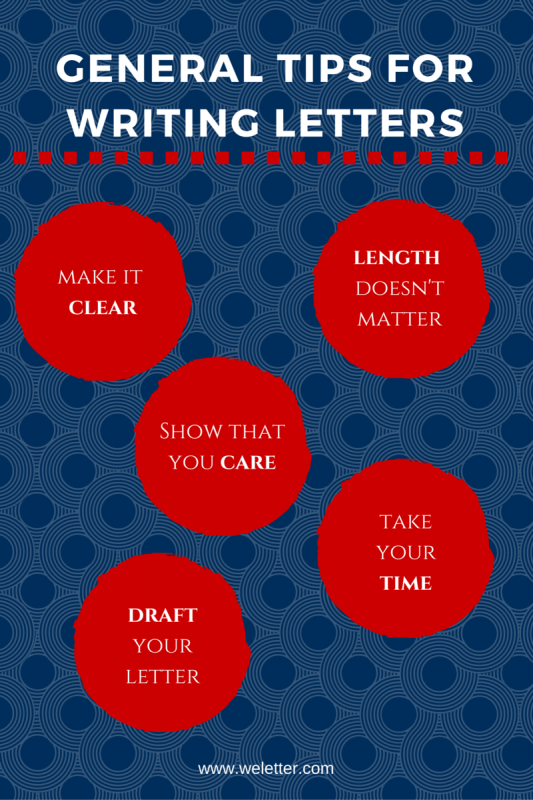 general tips for writing a letter