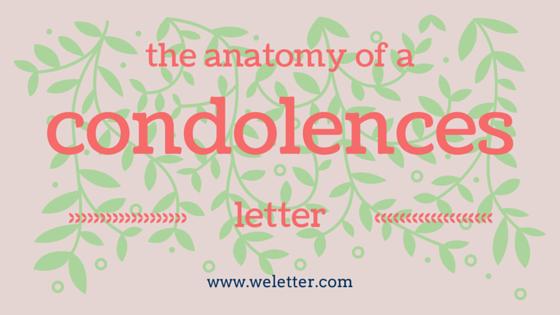 Condolences Letter